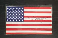 Cheif Justice William Rehnquist Hand Signed 3x5 USA Flag Card Todd Mueller COA