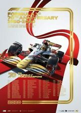 SOLD OUT FORMULA 1 one GOLD FOIL POSTER FIA only 700 made limited edition