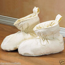 Warm & Cozy Duck Feather Filled Slippers Size MEDIUM (Fits 8-1/2 to 10-1/2)