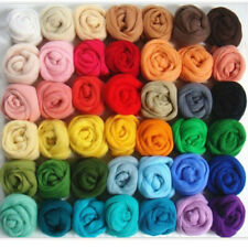 36Colors Wool Yarn Roving Fibre Hand Spinning Diy Craft for Diy Needle Felting