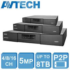 Avtech 5MP HD DVR XVR 4CH 8CH 16CH Grabador De Seguridad Cctv 1080P HDMI CVI TVI dispositivo antimanipulación