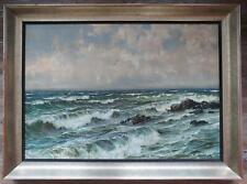 Patrick von Kalckreuth Gemälde Meereswogen rauer Wellengang auf Leinwand 100x70