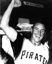 BILL MAZEROSKI AFTER SHOT TO WIN WORLD SERIES IN LOCKER ROOM AFTER GAME 8x10