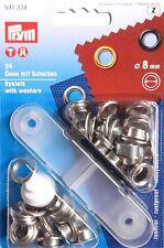 Prym Ösen und Scheiben 8 mm Silberfarbig