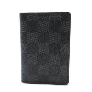 LOUIS VUITTON Organizer De Poche Card Case N63143 Damier graphite canvas Gray LV