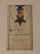 1887: Hand-Book Of Battles in the  War of the Rebellion, For Use of The G.A.R.