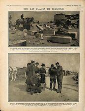 Ruines Plage Mer Nord Bredene Flandres Belgique Flanders Belgie Belgium 1915 WWI
