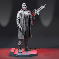 The Punisher Unpainted Resin Kits Model GK Figure Statue 3D Print 30cm