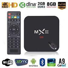 MXIII MX3 UHD 4K Smart TV Box Mini PC Android4.4 S812 Quad Core 2G+8G WiFi BT4.0
