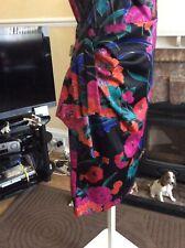 Debut Floral Wiggle Dress Size 18 Fabulous Hols 9 May  UTil 16 June