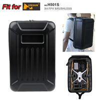Delux Hard Shell Backpack Case Waterproof Bag for Hubsan X4 H501S FPV RC Drone