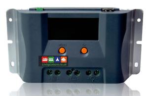 12V/24V MPPT 100A Solar Panel Battery Charge Controller Regulator Dual USB LCD