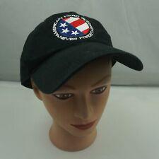 American Hero Pledge Hat Black Stitched Adjustable Baseball Cap Pre-Owned ST224
