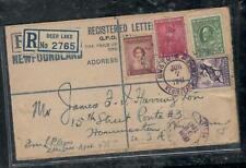 NEWFOUNDLAND COVER (PP2409B)  1941 RLE +7C+4C+2C+5C DEER LAKE TO USA  NICE