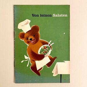 Vintage Lebensmittel-Werbung ALT 17x12cm BÄREN-MARKE Rezept-Heft Broschüre Salat