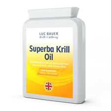 Superba Krill Oil Extract 500mg - 60 Capsules. Made in Great Britain.