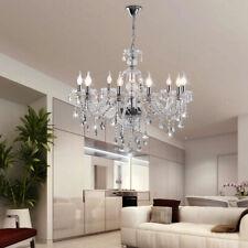 Ridgeyard Classic Crystal Chandelier Light 10 Arms Clear Ceiling Light Fixture