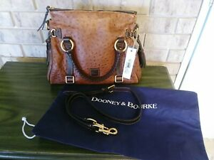 New With Tag - Dooney & Bourke Rare Ostrich Cognac/ Brown  satchel $368