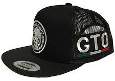 GUANAJUATO MEXICO HAT 2 LOGOS  BLACK MESH SNAPBACK ADJUSTABLE NEW HAT