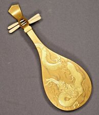 Meiji Period Japanese Gold Lacquer Biwa Box UNIQUE!!
