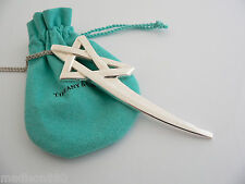 Tiffany & Co Silver XL Huge Large Picasso Shooting Star Necklace Pendant 35 Inch