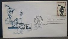 Scott 1262 USPS 100th FDC Anniversary Sokols Physical Fitness 5 cent stamp
