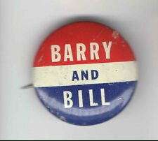 1964 pin GOLDWATER Miller Campaign Button pinback  BARRY and BILL