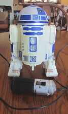 "1997 Hasbro Star Wars R2-D2 remote control with cord 8.5"" toy figure works"