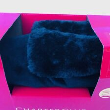Charter Club Memory Foam Slippers Black Size L 9-10 Indoor Outdoor NIB