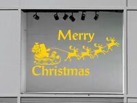 Shop Retail Window Christmas Santa Reindeer Vinyl Decal Decor Wall Stickers 01