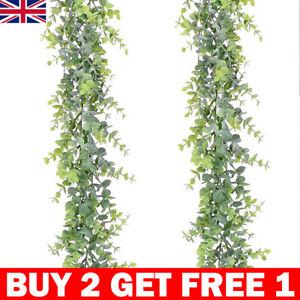 6FT Artificial Eucalyptus Garland Hanging Rattan Vine Ivy Wedding Flower Decor