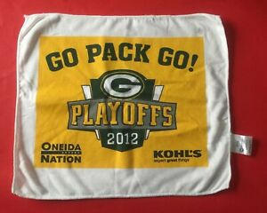 2012 GREEN BAY PACKERS Playoff Game Lambeau Field NFL SGA Towel Rag Vtg