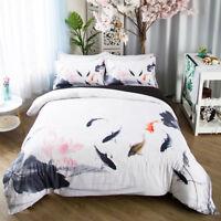 Wash Painting treasure Fish Duvet/Doona cover Pillowcase beding Chinese Traditio