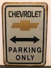 CHEVROLET Parking Only Metal Sign Vintage Style Garage Wall Decor 16x12 Cm