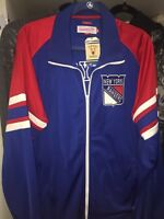 New York Rangers Jacket PRO Track XXL NHL MSG Hockey Retro Metro Style