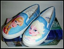 BRAND NEW! ORIGINAL FROZEN Girls YOUTH EASY SLIP ON Blue Pink size 10 Free Ship!