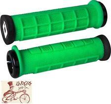ODI ELITE PRO LOCK-ON RETRO GREEN  BMX-MTB BICYCLE GRIPS