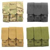 Hunting Triple Molle Pistol Magazine Pouch Holster Tactical 9mm Pouch Bag