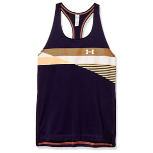 Under Armour UA HeatGear Tank UA Girls Purple Sports Training Vest YXL