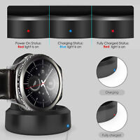 Qi Wireless Charging Dock Cradle Charger For Samsung Gear S2 S3 Classic Frontier