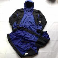 VTG North Face Gore-Tex Aztec Blue Mountain Light Set Jacket Pants Mens Large