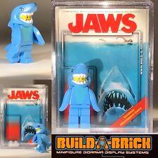 JAWS MINIFIGURE w Display Case Lego type Custom 355 SHARKNADO Horror