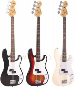 Encore E4 Electric BASS Guitar Outfit SUNBURST, BLACK, WHITE Everything included
