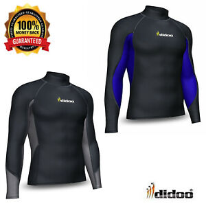 Didoo Mens Thermal Base Layer Compression Top Long Sleeve Mock Neck Cold Shirt
