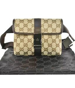 GUCCI GG Monogram Fanny Pack Belt Bag / M280-21100