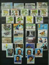 55 GOOD/FINE POSTALLY USED BARBADOS STAMPS.