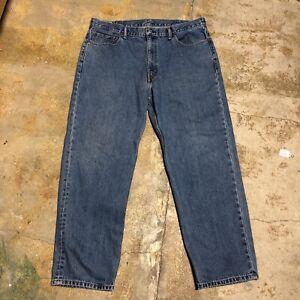 Blue Jeans 40x31 1/2 LEVI STRAUSS  Straight Leg Classic Regular Fit # 757