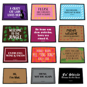 Funny Door Mats Novelty Welcome Mat Outdoor Indoor Sarcastic Doormat Witty Entry
