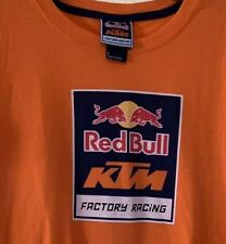 Red Bull KTM Factory Racing Women's T Shirt Orange Army Size L