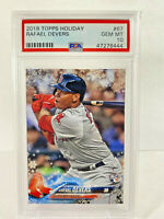 2018 Topps Holiday Rafael Devers Rookie PSA 10 Gem Mint #67 RC Baseball Card